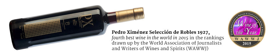 Pedro Ximénez Selección de Robles 1927, fourth best wine in the world in 2015 in the rankings drawn up by the World Association of Journalists and Writers of Wines and Spirits, (WAWW).