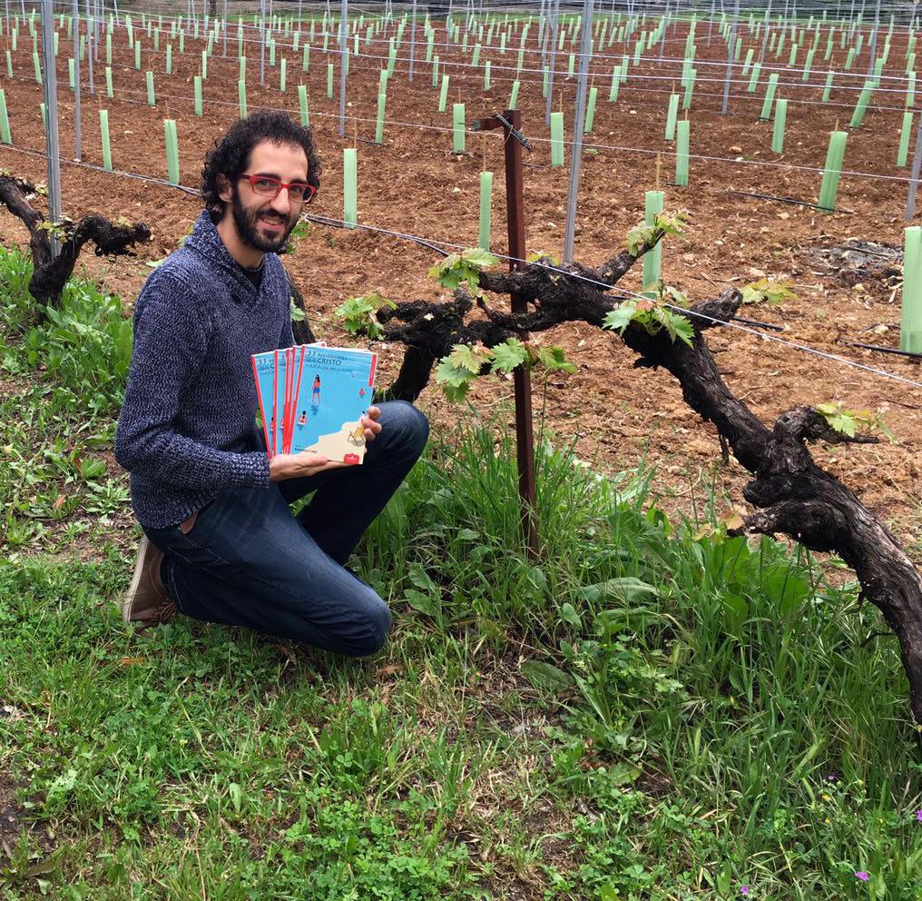 David González Lago trae su poemario al viñedo.