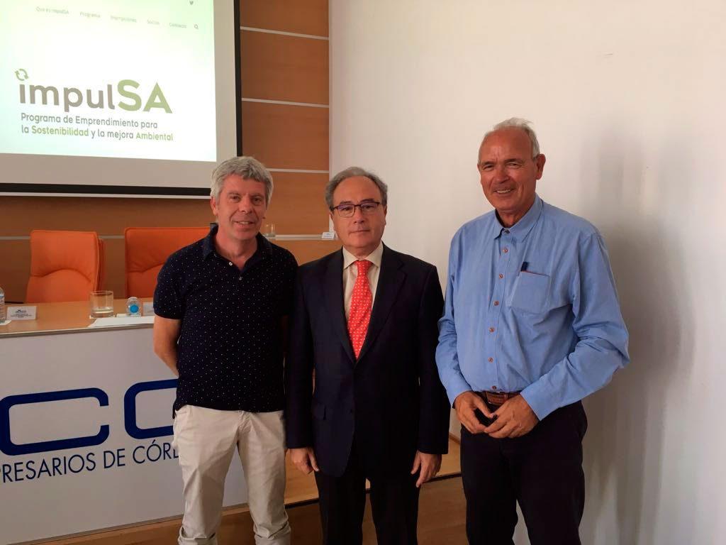 Francisco Robles, Antonio Díaz y Francisco Casero