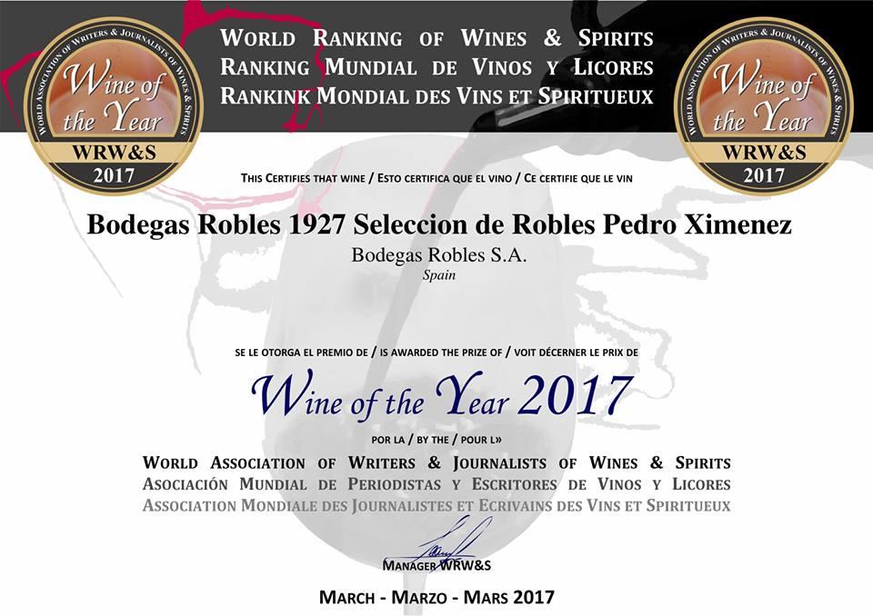 Pedro Ximénez Selección de Robles 1927